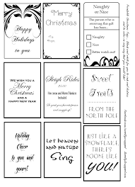 Free Printable Christmas Tags In Black And White Color Ink