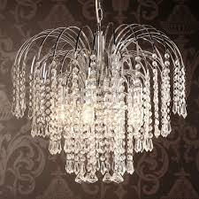 well known four light chrome crystal chandelier regarding crystal waterfall chandelier view 14 of 15