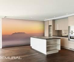 foggy hills kitchen wallpaper mural photo wallpapers demural