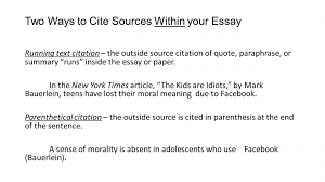015 How To Cite Sources In Essay Example Citation Apa Format