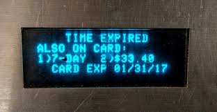 metrocard reader displaying both unlimited time window and monetary value
