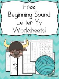 Beginning Sounds Letter Y Worksheets - Free and Fun   Worksheets ...