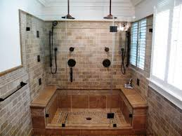 Image of: Doorless Curbless Shower
