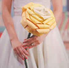 Paper Origami Flower Bouquet Giant Paper Origami Rose Wedding Bouquet By The Origami Boutique