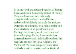 Pdf Facing Love Addiction Giving Yourself The Power To