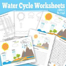 Free Printable Water Cycle Worksheets + Diagrams - Itsy Bitsy Fun