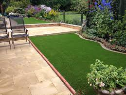 artificial grass patio area