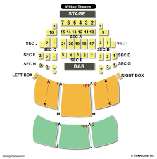 Mahaffey Seating Chart 46 Clean Wilbur Theatre Seat Map