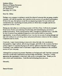 cover letter example internship cover letter example