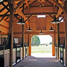 timber frame horse barn something along these lines for my dream barn must have a high ceiling with big beautiful beams i love these stalls