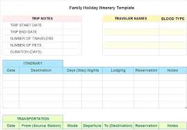 Trip Itinerary Planner Template Group Travel Planning Template