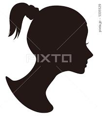 女性横顔シルエットのイラスト素材 5335529 Pixta