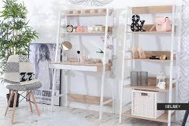 Schreibtisch Set Berg Mit Stehregal Weißsonoma Eiche