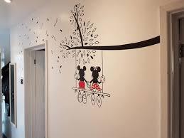 mickey and minnie tree wall sticker
