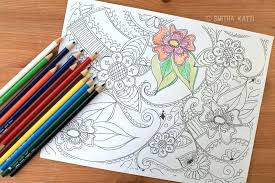 colored pencil coloring pages to print