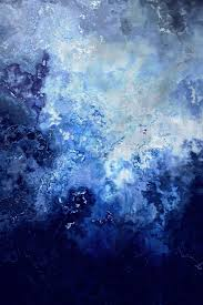 abstract art painting canvas sapphire dream