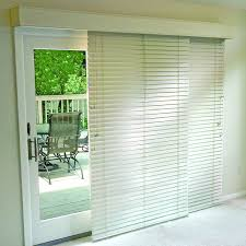 com glider blinds track system for sliding glass patio doors white 76 w x 84 h sliding door left outside mount home