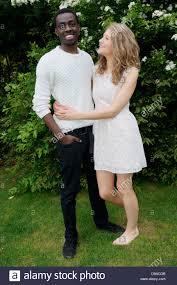 Black and white interracial couple photo