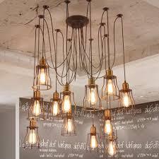 industrial chandelier lighting. Beautiful Diy Industrial Chandelier Home Decor Ideas Aisini Edison How To Make A Pendant Lamp Lighting 5