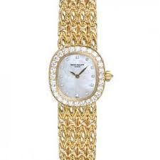 Ellipse Watch Golden 4931-2j Of White Mother Philippe Watches Dial Pearl Ladies Patek - Jomashop