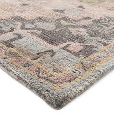 impressive threshold area rug pink gray vintage wool tufted target