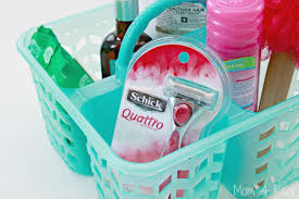 college dorm shower caddy care package idea