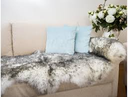 new zealand genuine xl double sheepskin rug sliver tip