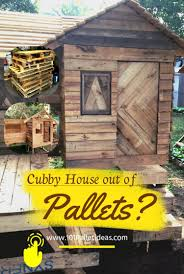 Wood Pallet House Pallet Cubby House Playhouse
