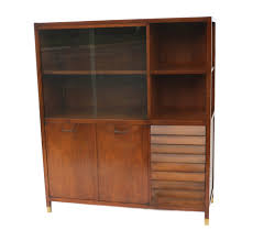 China Cabinet With Hutch American Martinsville Mid Century Modern China Cabinet Hutch