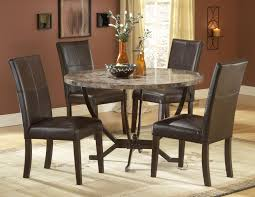 small round dinette set with 4 dark brown chairs and large rug wooden dinette set for small dining room