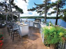 patio with pool and grill. Modren Pool Outdoor Kitchen Water On The Lake Intended Patio With Pool And Grill
