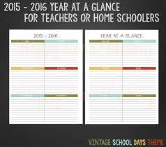 2016 Calendar At A Glance Free Printable Calendars And Planners