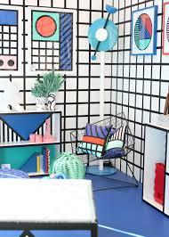 memphis style furniture. Memphis-design-Camille-Walala-London-Design-festival-photo- Memphis Style Furniture