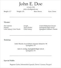 Beginner Acting Resume Sample Beauteous Acting Resume Template For Free Theatre Word LuxuryTransportation