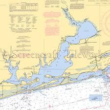 Florida Perdido Key Nautical Chart Decor