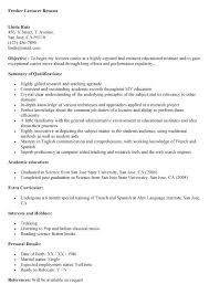 Ideas Of Sample Cover Letter For Fresher Lecturer Job Application