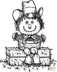 scarecrow coloring page free printable pages best sheets