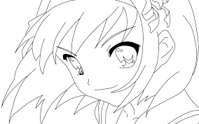 Anime Coloring Pages Online Free Coloring Anime Pages Emo Wolf