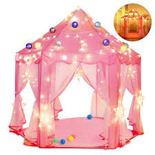 kids indoor princess castle play tents pink princess tent children game play toys tent girls playhouse