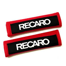 edbetos pair black red recaro auto shoulder strap