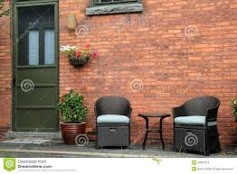 old brick furniture. Attractive Wood Porch With Outdoor Furniture Of Old Brick Home. N