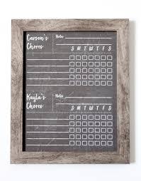 Chalkboard Chore Chart Dry Erase Chore Chart Framed