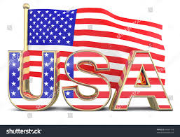 american flag word art usa word american flag 3 d model stock illustration royalty free