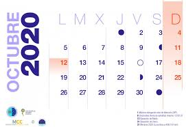 calendario 2020-octubre | Instituto de Astrofísica de ...