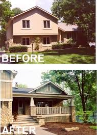renovate house exterior. add stairs outside and create a porch, eliminate one set of inside on tri renovate house exterior