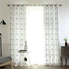 arrow curtain rod aurora home mix amp match curtains print white room darkening and sheer