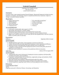Resume Restaurant Manager 8 9 Restaurants Manager Resume Sample Samples