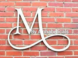 metal letters wall decor large for art s alphabet initial letter d m metal letter wall art