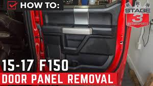 2015 2017 f 150 door panel removal tutorial youtube  at 2015 F150 Left Rear Door Wire Harness