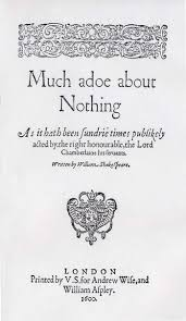 mistaken identity masks disguise in much ado about nothing title page of the first quarto of much ado about nothing